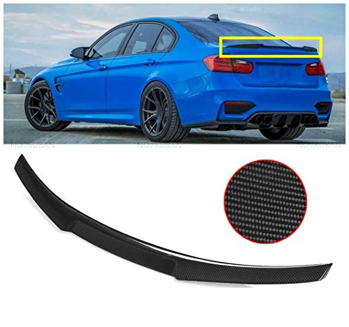NO7RUBAN Rear Spoiler Fits for 2007-2013 BMW E92 3 Series 2 Door Coupe & E92 M3 Coupe M4 Type Trunk Spoiler Wing Carbon Fiber Style