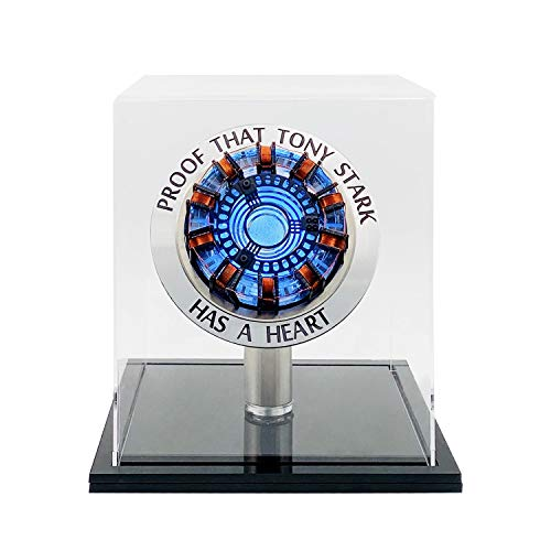Ironman/War Machine Arc Reactor MK1 完成品マーベル アイアンマン したアーク リアクター実物大 USB給電 LED発光のスペルモデルセット DIY 組立式 模型 もけい 防塵展示箱付き…