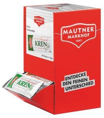 Mautner Markhof KREN, 100 Packungen mit jeweils 18 gramm, insgesamt 1,8 KG.