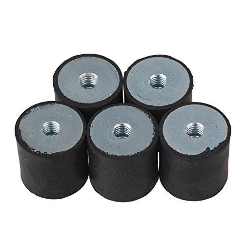 Gummi-Stoßdämpfer, M8-Gewinde, Anti-Vibrations-Halterung, geräuschloser Block, 30 x 30 mm, 5 Stück