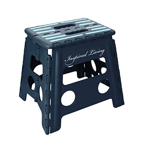 Inspired Living Step Heavy Duty folding-stools, 13' High, NAVY BLUE