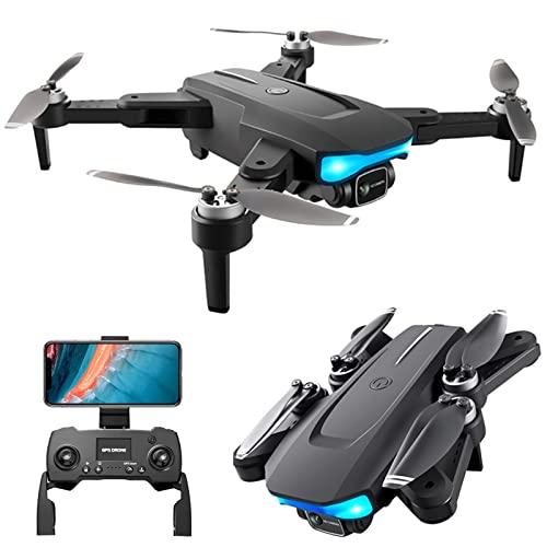JJDSN Drone con cámara 4K para Adultos GPS 5G WiFi FPV Drones Motor sin escobillas Profesional RC Quadcopter Vuelo 1KM, 28Mins Tiempo de Vuelo, Sígueme, Regreso automático a casa