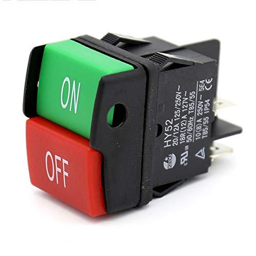 Yangxue HY52 - Interruptor de botón pulsador para electrodomésticos, equipo eléctrico, herramientas...