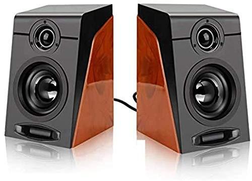 FTYUNWE Accesorios para Computadora 3Wx2 Altavoces para Computadora con Altavoz Multimedia Estéreo Envolvente con Cable USB para PC/Laptops/Smart Phone