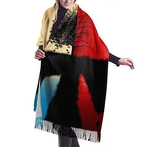 Tengyuntong Damen Wickeldecke Schal, Dunkelheit Teufel Liebe Frieden Engel Kaschmir Schal für Frauen Männer Leichte Unisex Mode Weiche Winterschals Fransen Schal Wraps