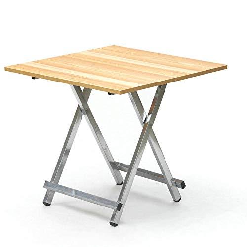DX klaptafel Huishoudelijke Eenvoudige 2 Personen 4 Personen Draagbare Tafel Vierkant Vouwen 60X60 Hoge 57 Cm Houten Graan