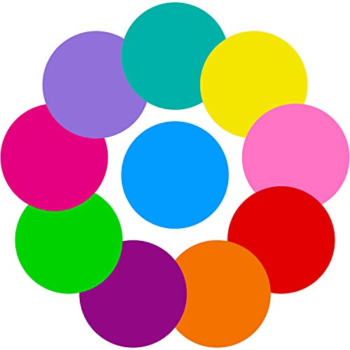 Tatuo 10 Pieces Colorful Dry Erase Circles White Board Marker Removable Vinyl Dot Wall Decal for Drills and Training School Teaching Progress 11 inch