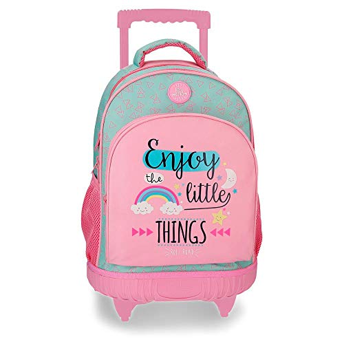 Roll Road Little Things Mochila escolar, 43 cm, 28.9 litros, Rosa