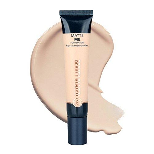 Beauty Glazed 30ml Face Foundation Primer Transformers The Skin To a Smooth Makeup Primer Matte Me Foundation High Coverage+Poreless Face Primer (02#)