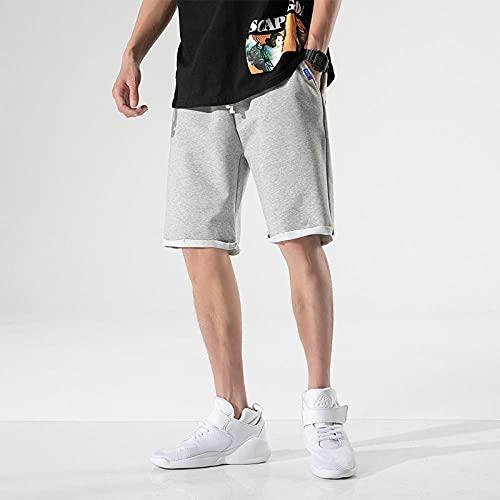Shorts Pantalones Cortos Hombres Pantalones Cortos Casuales para Hombres Moda para Hombres Ropa Pantalones Cortos De Algodón para Hombres Pantalones Cortos Deportivos para Correr hasta La Rodilla