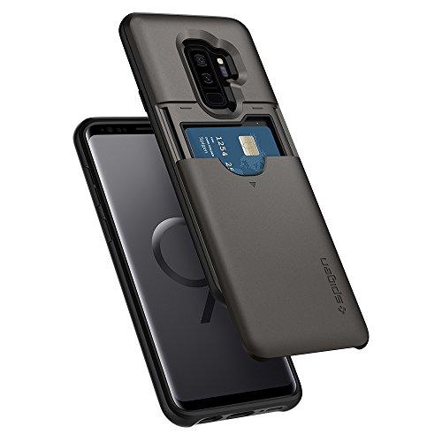 Spigen Slim Armor CS Cover Galaxy S9 Plus, Design Sottile del Portafoglio a Doppio Strato Custodia per Samsung Galaxy S9 Plus, Gunmetal
