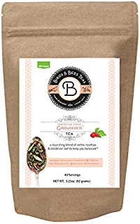 Birds & Bees Teas - Organic Fertility Tea & Pre Conception Tea, Grounded Pregnancy Tea is a Red Raspberry Leaf Blend for a Great Natural Cleanse and Detox, 40 Servings, 3.2 oz
