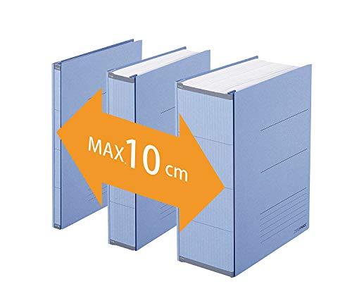 PLUS Japan, Zero Max Platzsparordner in Blau, 1er Pack (1 x 1 Ordner)