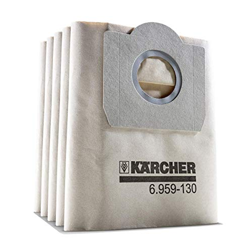Kärcher Papierfilterbeutel (5 Stück, 2-lagig, hohe Reißfestigkeit, kompatibel mit Kärcher SE 4001/4002 und WD 3)