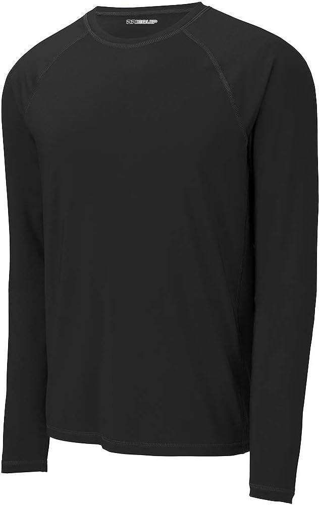 DRIEQUIP Mens UPF 50 Long Sleeve Rashguard Tee Sizes XS-4XL