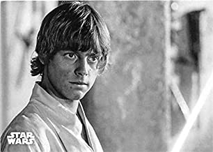 Luke Skywalker trading card Mark Hamill Star Wars Black White Topps 2018#33 uses light saber first time