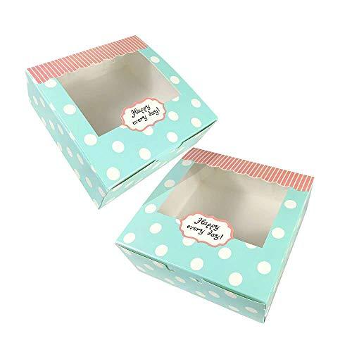 15 Piezas Cajas de Cupcakes,Cajas de panadería para galletas Cajas para Pasteles con Ventana de Transparente Muffin Simple perfecta para pasteles,galletas,pasteles pequeños,tartas,cupcakes