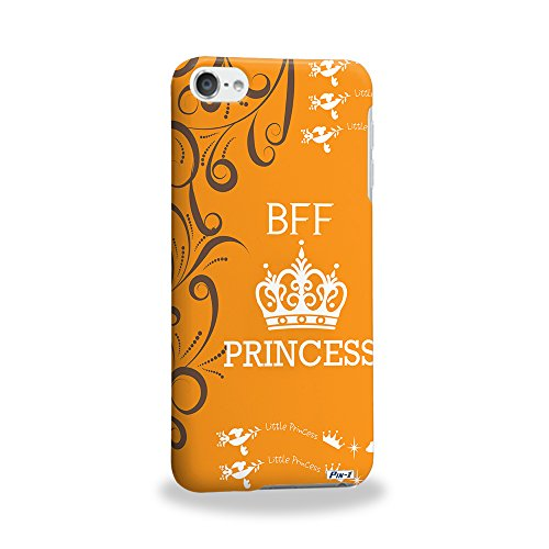 Pin-1 [Apple iPod Touch 6] 3D Printed Snap-on Hard Case & Warranty Card - BFF Princess Quote DSE0220