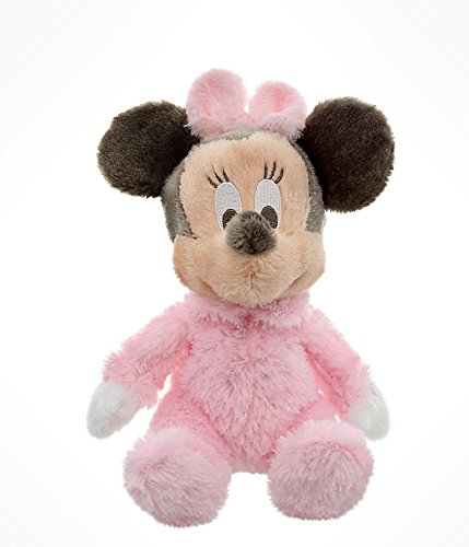 Disney Parks Exclusive Baby Minnie Mouse 9 Inch Long Pile Plush Rattle Doll by Disney 1