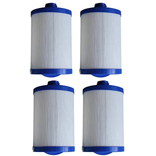 HLL Filtre de Spa Cartouche Spa Plier Le Papier Filtre en Polyester Blanc LX-621 pour de Nombreux modèles de piscines de Massage (4Pack)