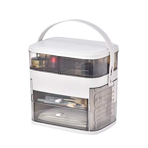 LED Organisateur Cosmétiques, Net Ins Coiffeuse, Elfa Creative Magic Box Multifonction Intelligent Étagère,Gris,Regular