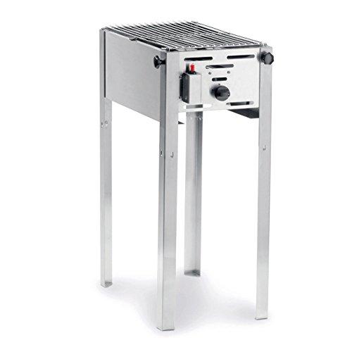 HENDI Grill-Master mini, Elektronisches Zündgerät, nur für Verwendung im Aussenbereich, für Gasflaschengas (Propan/Butan), 5kW(Hs), 340x540x(H)840mm, Edelstahl 18/0