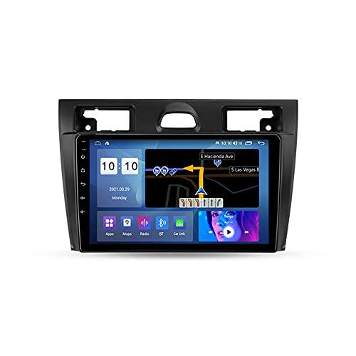 ADMLZQQ Autoradio Android Bluetooth 2 DIN Radio De Coche 9'' Pantalla Táctil WiFi Plug and Play Completo RCA Soporte Carautoplay/GPS/Dab+/OBDII para Ford Fiesta MK Vi 5 Mk5 2002-2008,M600s