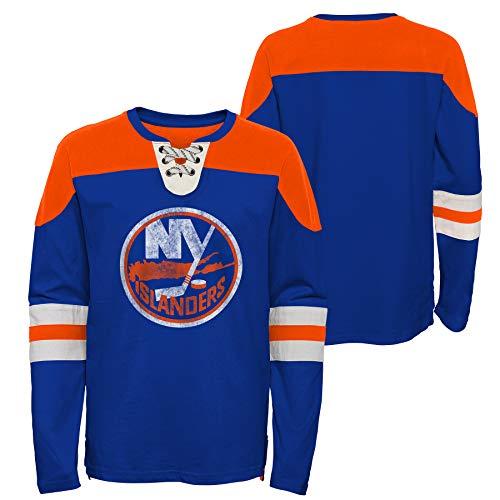 OuterStuff NHL New York Islanders Youth - Camiseta de manga larga para...