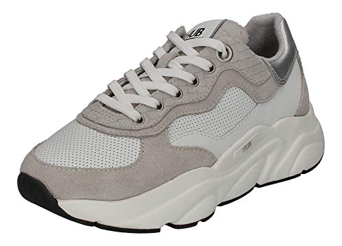 Hub Footwear Damen Sneakers Rock L66 White neutral Grey, Größe:39 EU
