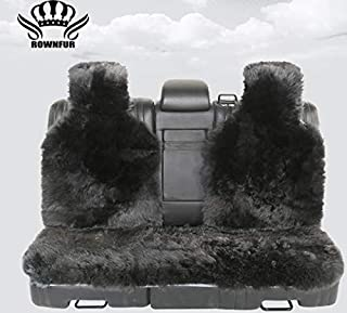 1SET Long Hair car seat Covers,Natural Fur Sheepskin seat Covers Universal Size for All Types of Seats,auto seat Covers for BMW