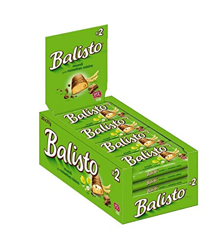 Balisto Schokoriegel | Müsli-Mix, grün | 20 Riegel in einer Box (20 x 37 g)