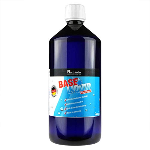 Riccardo Propylenglykol (PG) E1520, Base 0,0 mg Nikotin, zum Mischen von Basisliquid, 1000 ml