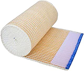 """NexSkin Elastic Compression Wrap (4"""" Wide, 1 Pack) with Hook and Loop Fasteners at Both Ends 