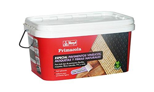 Rayt 524-23 rimacola Plus C-10 Adhesivo acrílico unilateral para revestimientos ligeros: moquetas, pavimentos de PVC, goma o caucho de hasta 4 mm de grosor. Fácil aplicación con espátula. 5kg