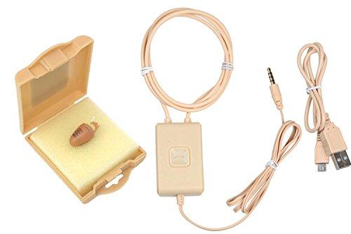 Spy Gadget® Onzichtbare Kleine Spy Oorstuk Super Kleine Nano Bug Bluetooth Draadloze GSM Neckloop Box ID Card Portemonnee Covert Systeem (3W Neckloop, R1)