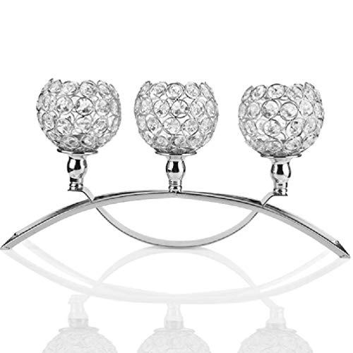 candelabro cristal de 3 brazos de la marca liaobeiotry