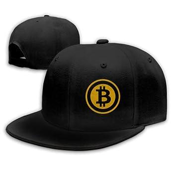 Alefdolf Bitcoin Snapback Flat Baseball Cap Men s Adjustable Black