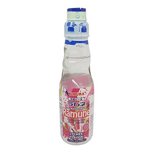 Ramune (Japanisch Limonade) Lychee Geschmack 200ml by Kimura