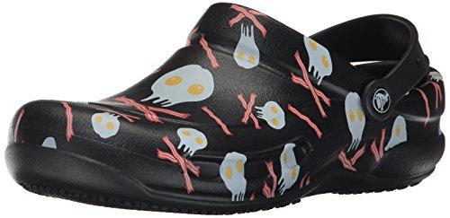 Crocs Bistro Graphic Clog, Unisex Adulto Zueco, Negro (Black/White), 36-37 EU