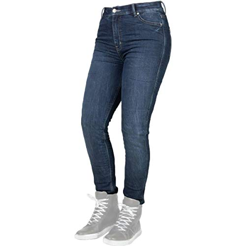 Bull-it Tactical SP75 Icona Straight Fit Blauw Dames Motorfiets Jeans
