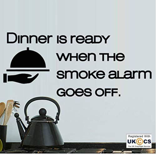 Abendessen bereit Rauchmelder Küche Funny Food Wall Art Aufkleber Decals Vinyl Home wasserdichte...