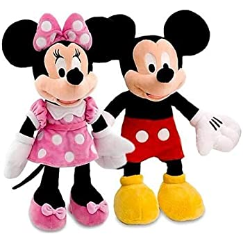 west feen Premium Quality Mickey and Minnie Mouse Couples Stuffed Soft Toys of 36 cm(Medium Size)