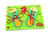Andreu Toys 30x 22,5x 1,3cm Lacets Chaussures Puzzle (Multicolore)