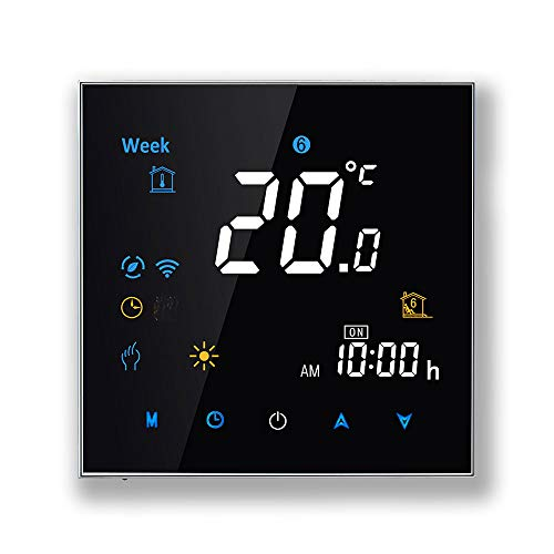 Arxus WiFi Programable Smart Termostato Pantalla LCD Controlador de Temperatura para Calderas de Calefacción/Aire Acondicionado Trabaje con Alexa Google Home IFTTT
