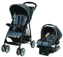 Graco Literider Lx Travel System, Lightweight Pushchair & Snugride 30 Infant Car Seat, Rille, (Black),Graco,2028400,Travel System