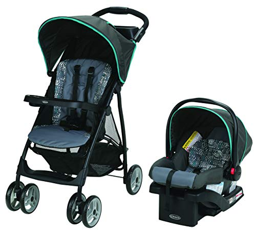 Graco Literider Lx Travel System, Lightweight Pushchair & Snugride 30 Infant Car Seat, Rille, (Black)