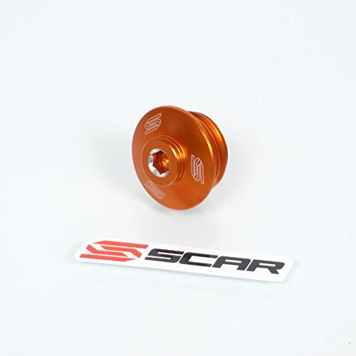 Bouchon de carter niveau huile moteur orange Scar moto Husaberg 125 TE 2012-2014