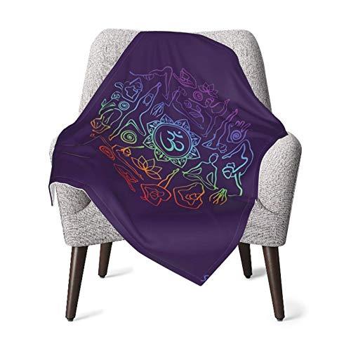 XCNGG Mantas para bebés edredones para bebésNursery Receiving Blankets Creative Yoga Logo Baby Blanket Soft Warm Fleece Newborn Receiving Blanket for Crib Stroller 30' x 40'