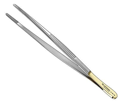 Ustomed Instrumente 10-120-145 Pinzette, Hartmetalleinlagen, 14.5 cm