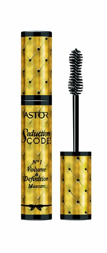 Astor Seduction Codes No. 01 Volume & Definition Mascara – Schwarze Wimperntusche für Volumen, Länge und Kurvenbürste, die jede Wimper erfasst – Kontaktlinsenverträglich – Farbe Black 800 – 1 x 10 ml